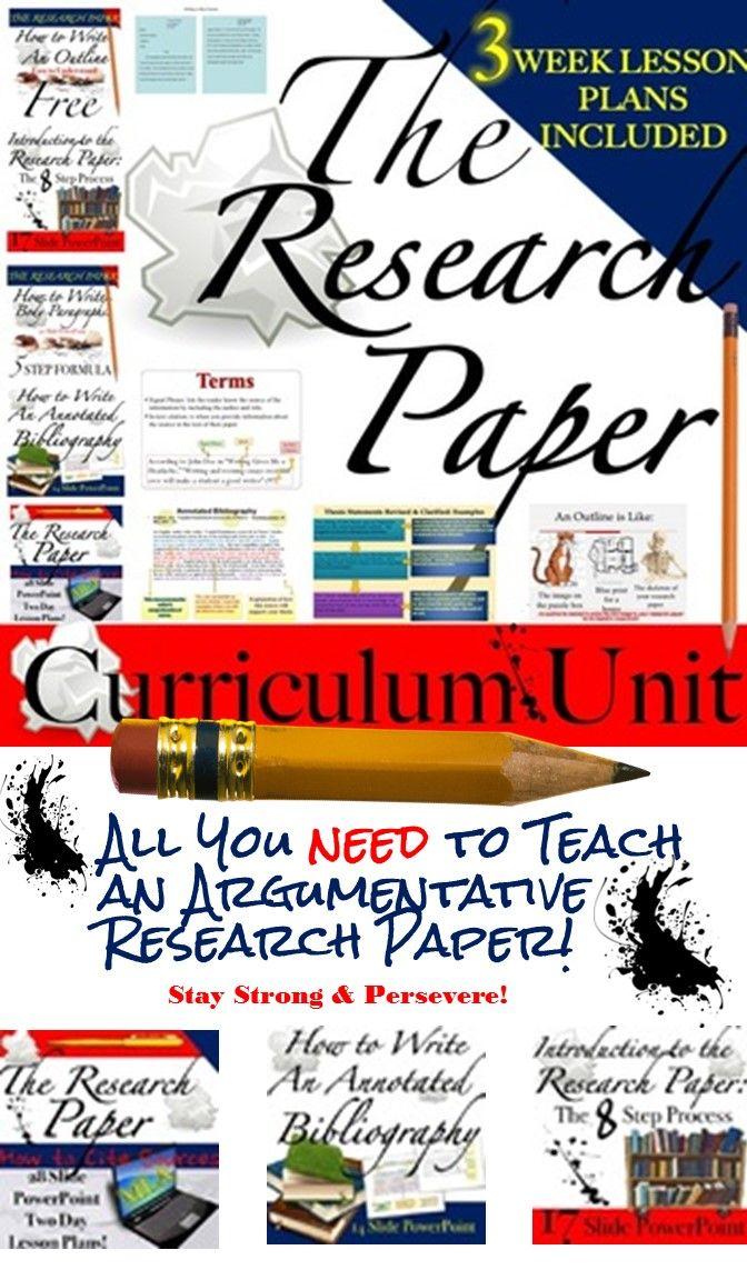 Research Paper Curriculum Unit Research Paper Teaching Write My Paper