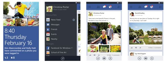 Facebook Beta per Windows Phone 8 disponibile al download.