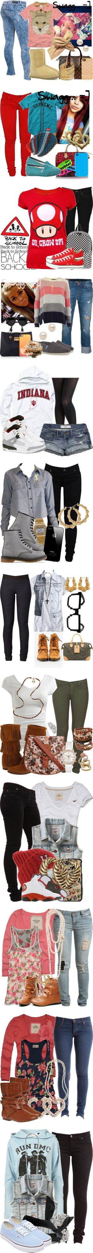 """Stuff I would wear to school (Part 2)"" by mizzstarburst ❤ liked on Polyvore"