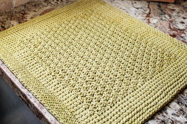 Free Tunisian Crochet Patterns : Tunisian Crochet Kitchen Mat Pattern