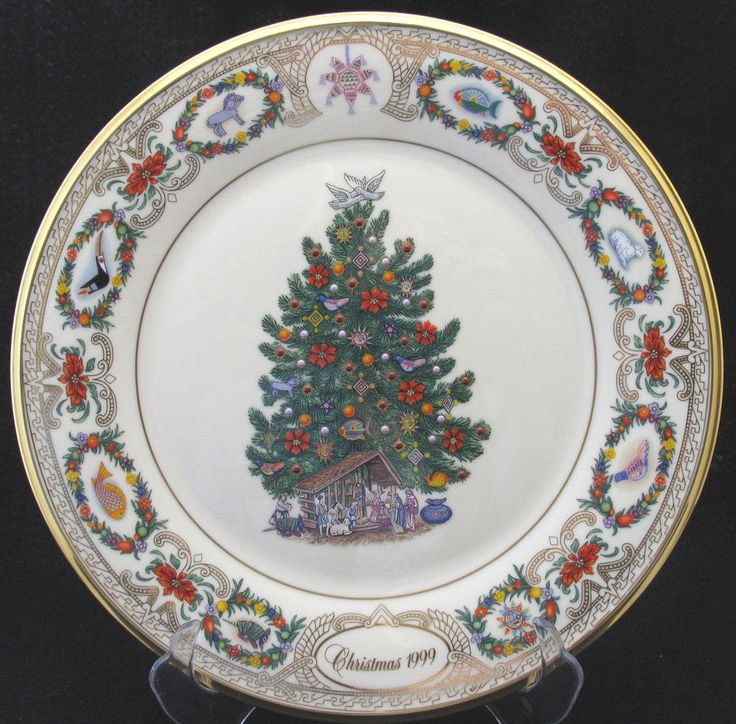 Lenox Christmas Trees Around The World Plates