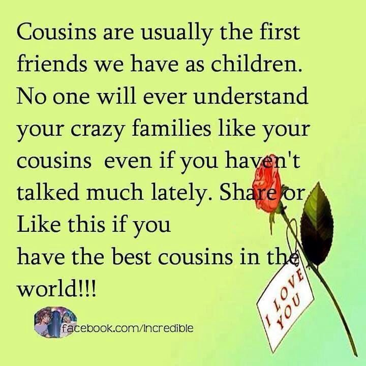 I Love You Quotes: Cousins Day Quotes. QuotesGram