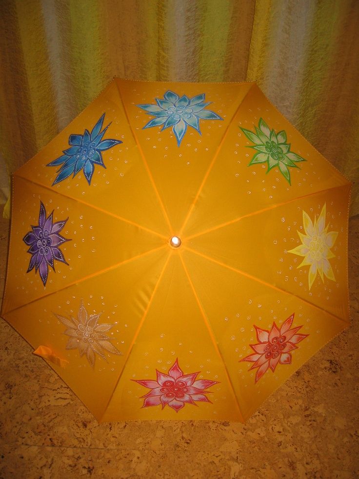umbrella hand painted, parasol hand painted