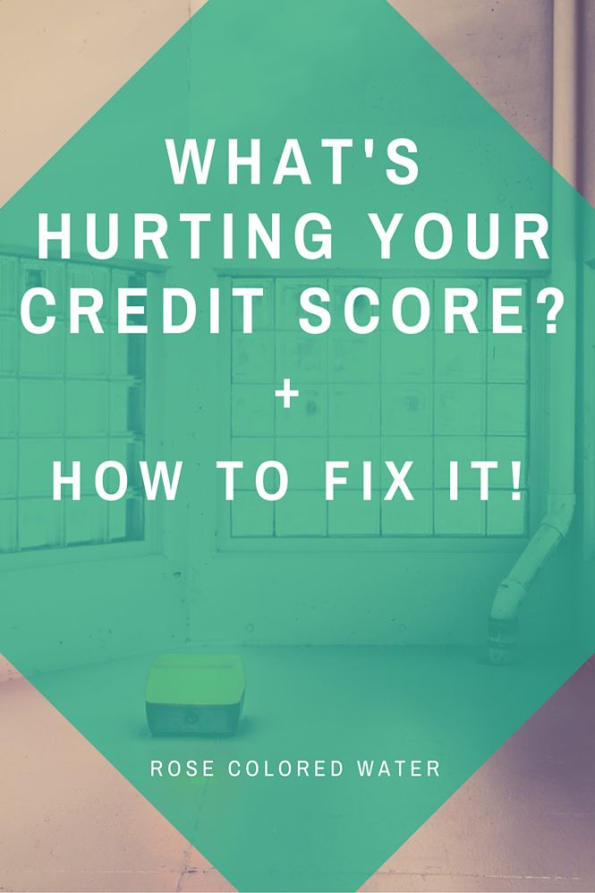 What's hurting my credit score and how do I fix it? #personalfinance #debt