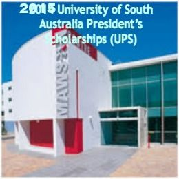 University of South Australia Presidents Scholarships (UPS)  for International students,  and applications are submitted till 31st August 2016. Applications are invited for President's scholarships available for international students to undertake research at University of South Australia. - See more at: http://www.scholarshipsbar.com/university-of-south-australia-presidents-scholarships.html#sthash.zc5818Iw.dpuf