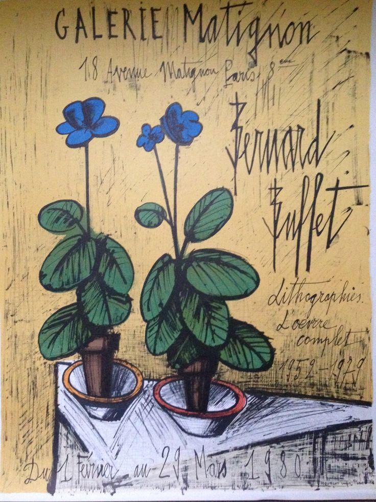 Bernard Buffet Exhibition Poster lithograph