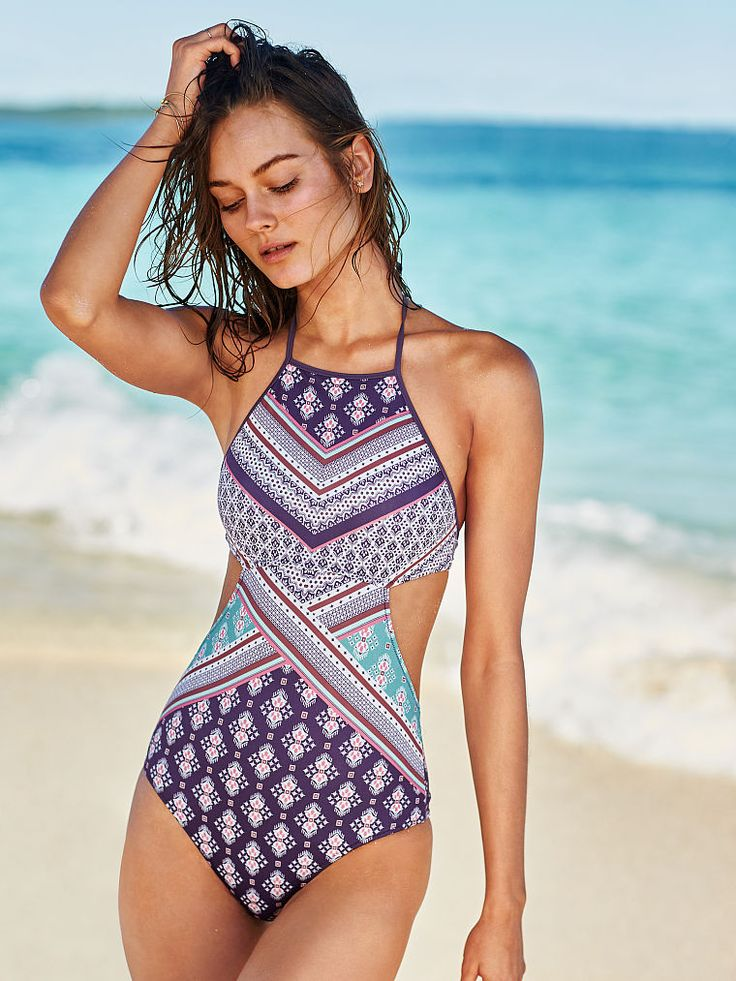 Boho prints take on the spotlight. | Victoria's Secret Cut-Out One-Piece