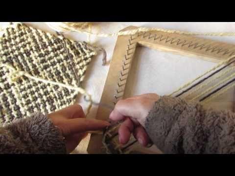 Telar cuadrado, punto barracan - YouTube