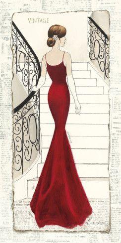 La Belle Rouge - Konst av Emily Adams på AllPosters.se