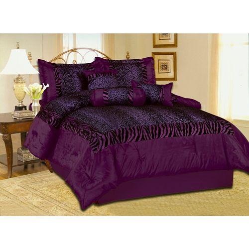 purple bedding | Black Purple Comforter Set | Discount Comforter Set