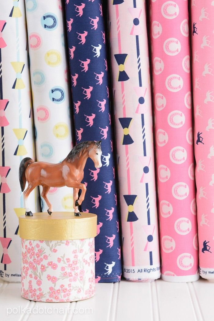 Derby Style Fabric by Melissa Mortenson for Riley Blake Designs. Cute fabric patterns for your next sewing project.