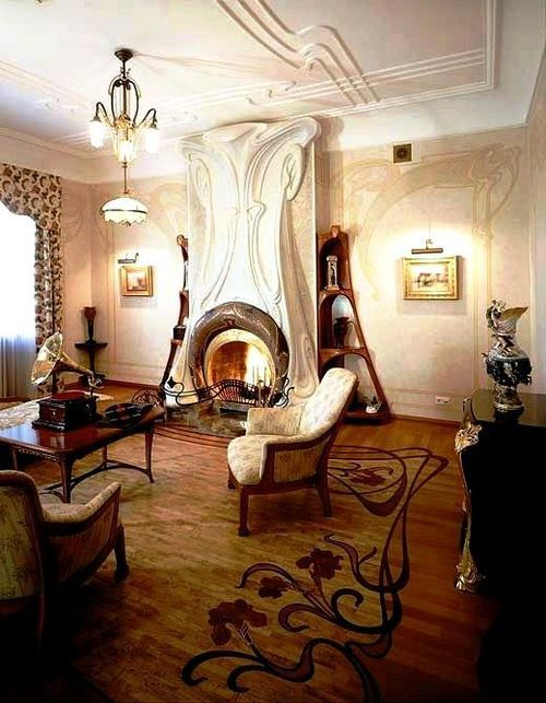 Art nouveau style house villa liberty near moscow russia interior design files