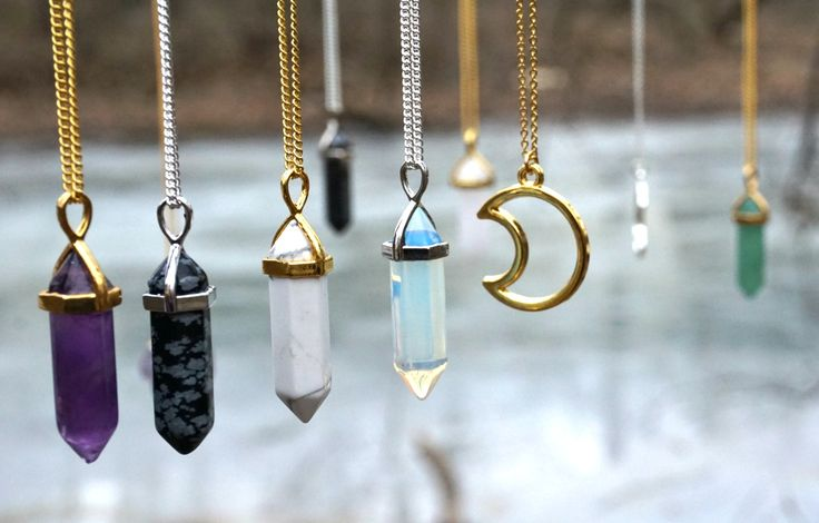Check out our mix of handcrafted mystical crystal necklaces, & other bohemian accessories ♥