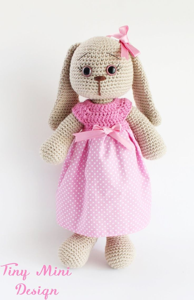 Amigurumi polka dot bunny free crochet pattern by Tiny Mini Design! Pattern is in Turkish but the English translation is further down the page. Pattern More Patterns Like This!
