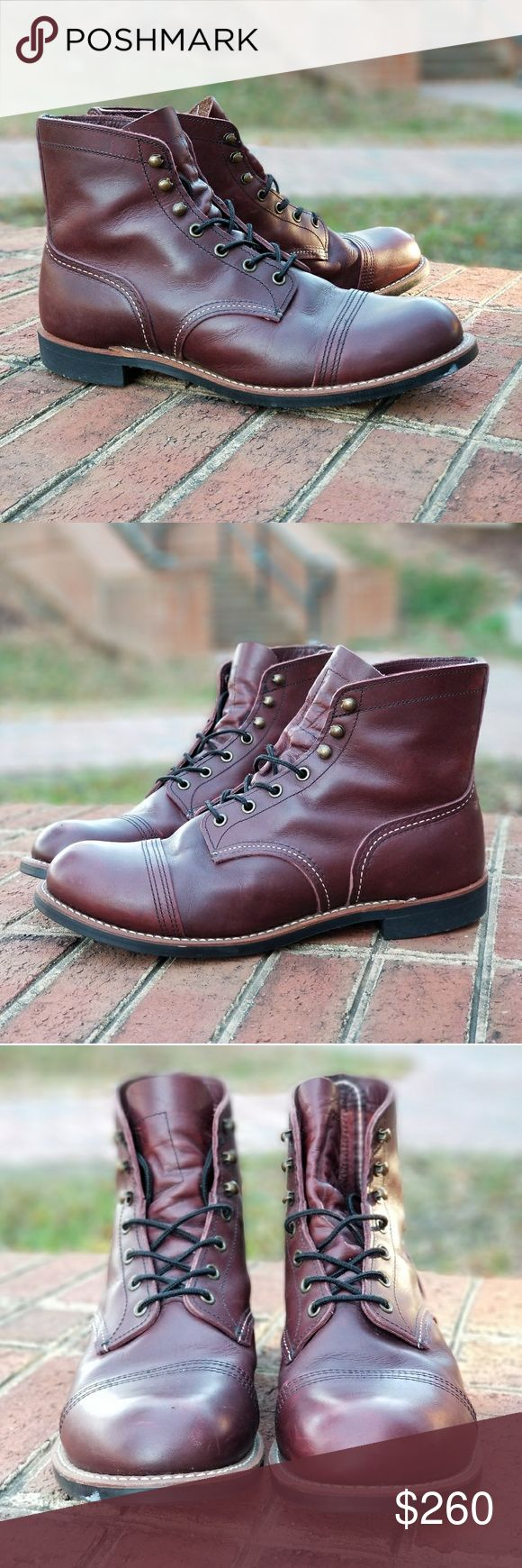 Red Wing Heritage, Iron Ranger. Style #8119 These boots have been worn less than 15 times. An amazing boot and great color but are a little to big for me. They are a 10.5 but fit like an 11.5. Made from Oxblood Mesa Leather. Red Wing Shoes Shoes Boots