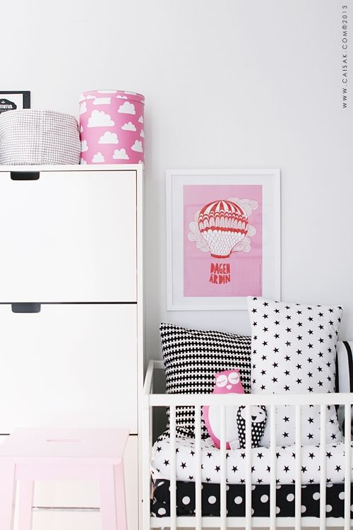 CAISA K. - pink, white and black nursery