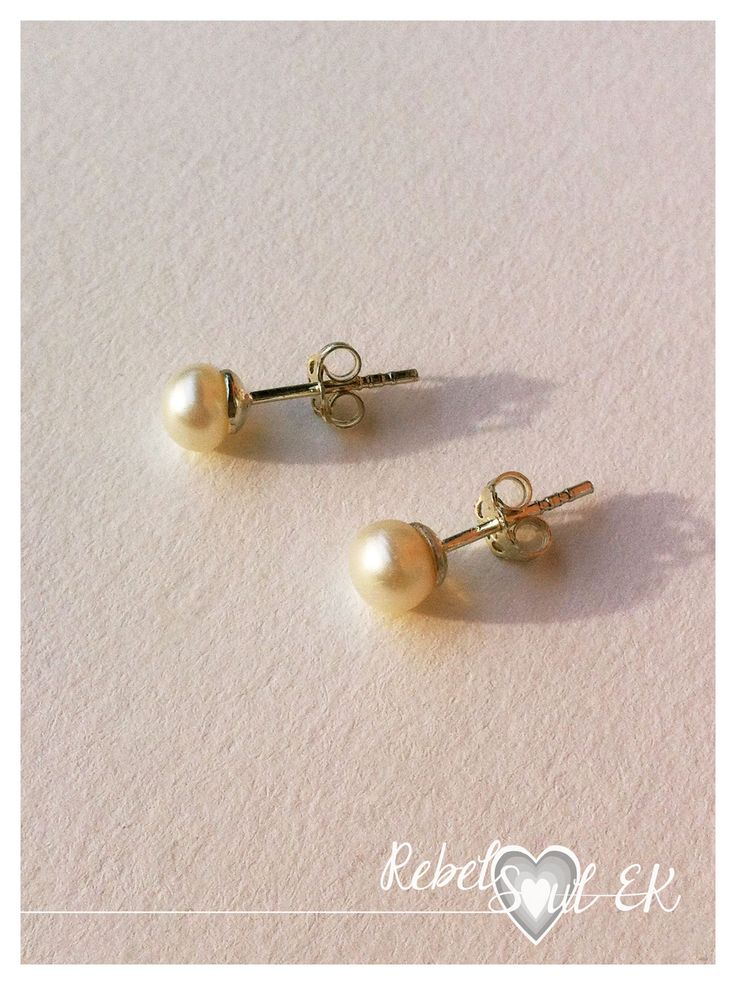RebelSoulEK jewelry sterling silver earring natural pearls bride white creamy vanilla