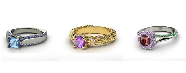 De véritables bagues de fiançailles incrustées de pierres précieuses inspirées par les princesses #Disney