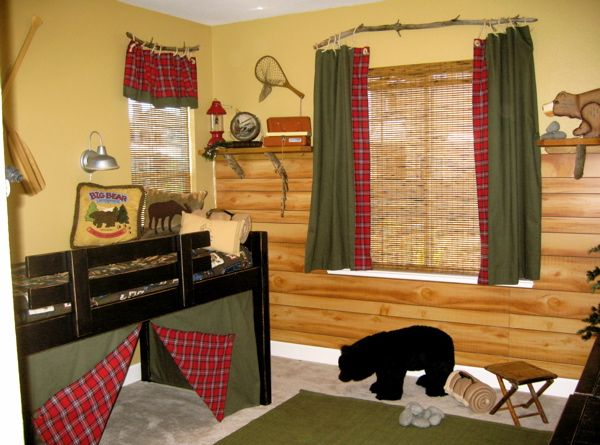 camping fishing hunting outdoor theme for Levi's room! we need that bed ;)