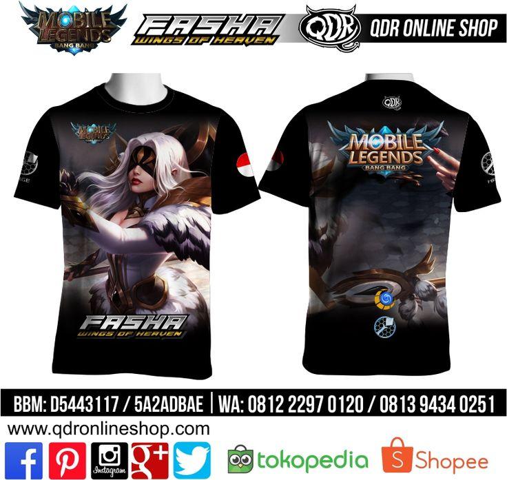 T-Shirt Mobile Legends Fasha Skin Wings Heaven untuk pemesanan: BBM D5443117 / 5A2ADBAE (Qdr online shop) WA/LINE 081222970120 / 08129434025 www.qdronlineshop.com