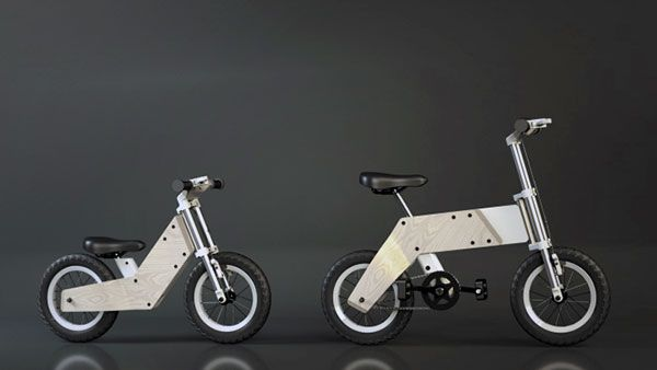Kids grow fast. This little training bike grows with your child so as to enjoy for years to come. #bike #children #YankoDesign