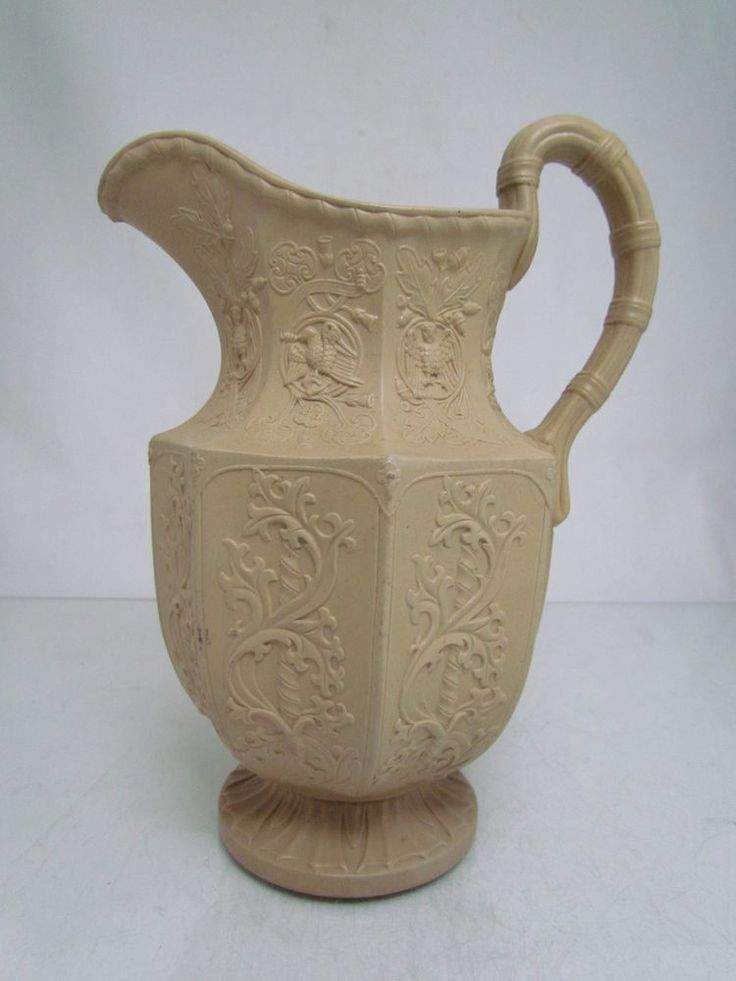 Antique Stoneware Elizabethan Pitcher Jug By E Jones