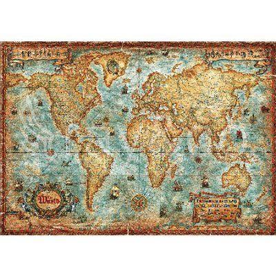 Heye - Puzzle 3000 pièces - Carte du monde - Rue des Puzzles
