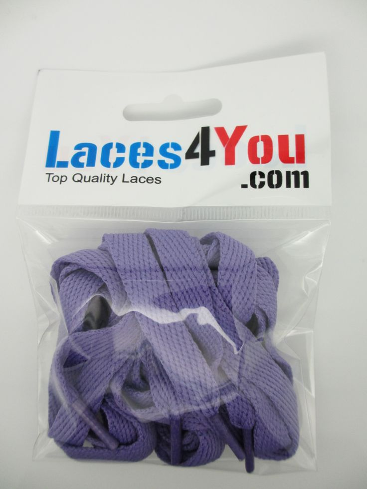 Flat Purple 10mm Laces.