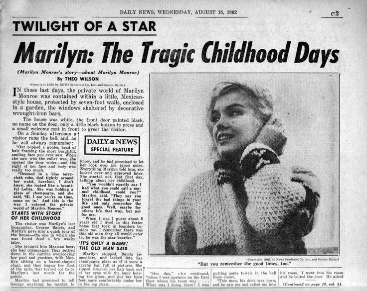 Daily News 15/08/1962 - Divine Marilyn Monroe