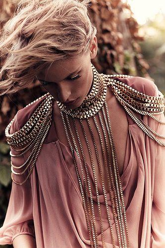 blush pink + bling.