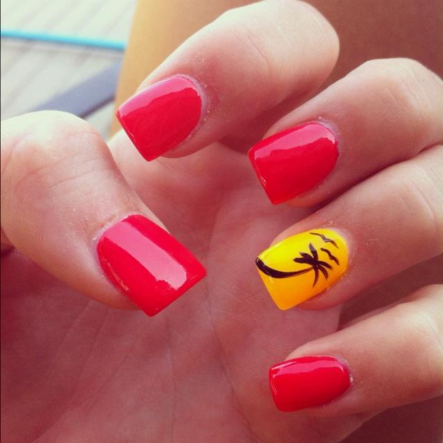 Cute Nail Designs For Spring Break Cute summer, pa...