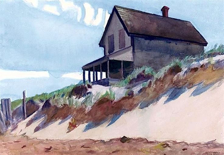 HOUSE ON HILL TOP (HOUSE ON DUNE, SOUTH TRURO) By Edward Hopper