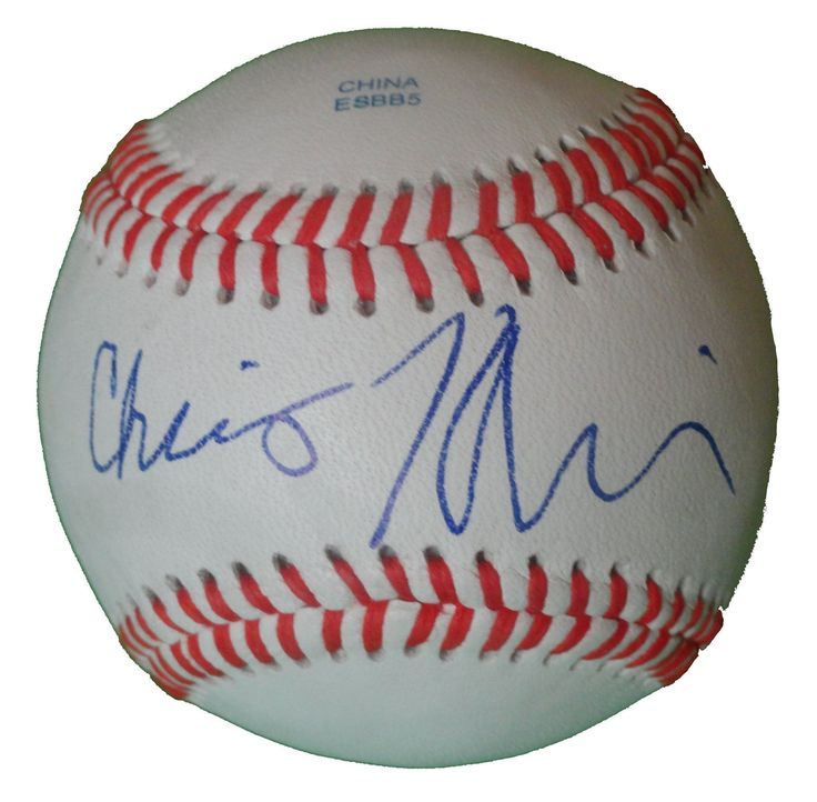Chris Klein Autographed Rawlings ROLB1 Leather Baseball, Proof Photo