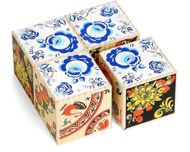 Кубики  Русские узоры»