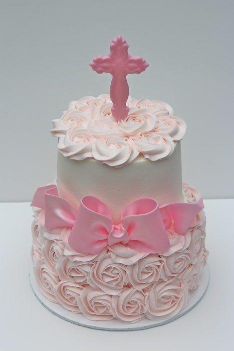 Baptism Cake For Sweet Ellie Rose Buttercream With