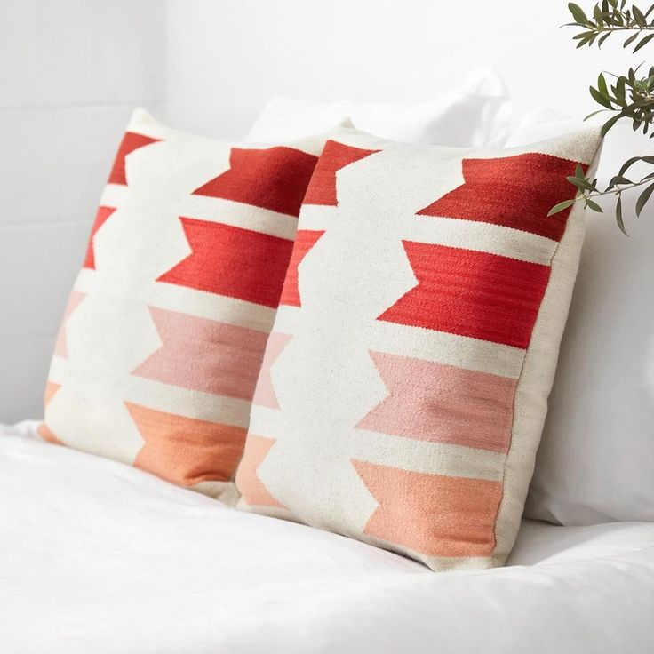 LivRm or Bdrm: Modern Throw Pillows - Peach | Handmade in Peru   – The Citizenry