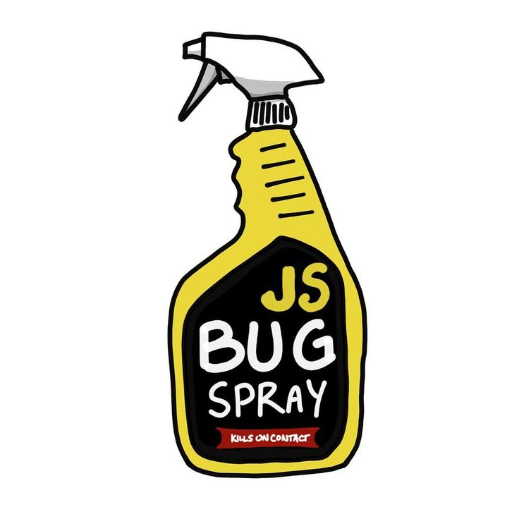 Overrun with undefined not a function? Get your JS Bug Spray today! #JavaScript #nodejs #developers #drawingoftheday #doodle #drawing