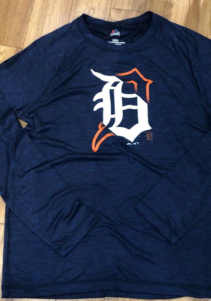 huge selection of f8c64 9ee5d Majestic Detroit Tigers Mens Navy Blue Vital To Success Long ...
