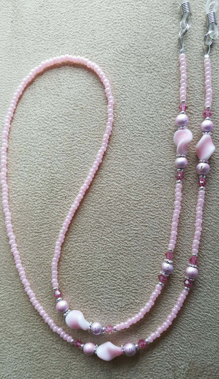 Oh so pretty in pink eyeglass chain.
