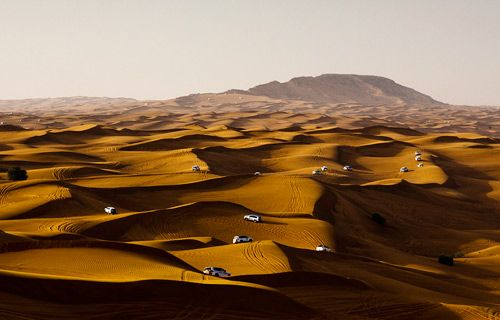 Dune bashing in Dubai | Best winter sun destinations | http://www.weather2travel.com/blog/best-winter-sun-destinations.php #travel #weather
