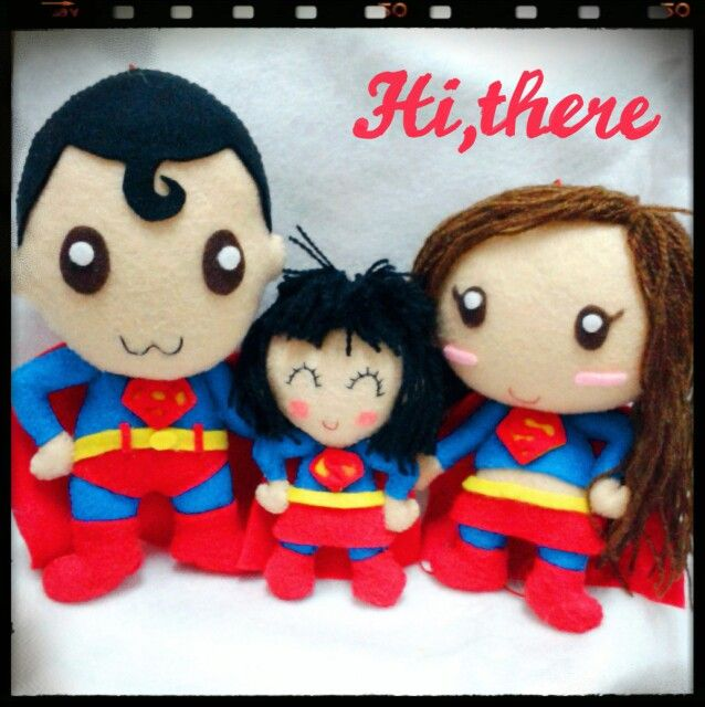 Felt handmade for wedding anniversary gift...super family