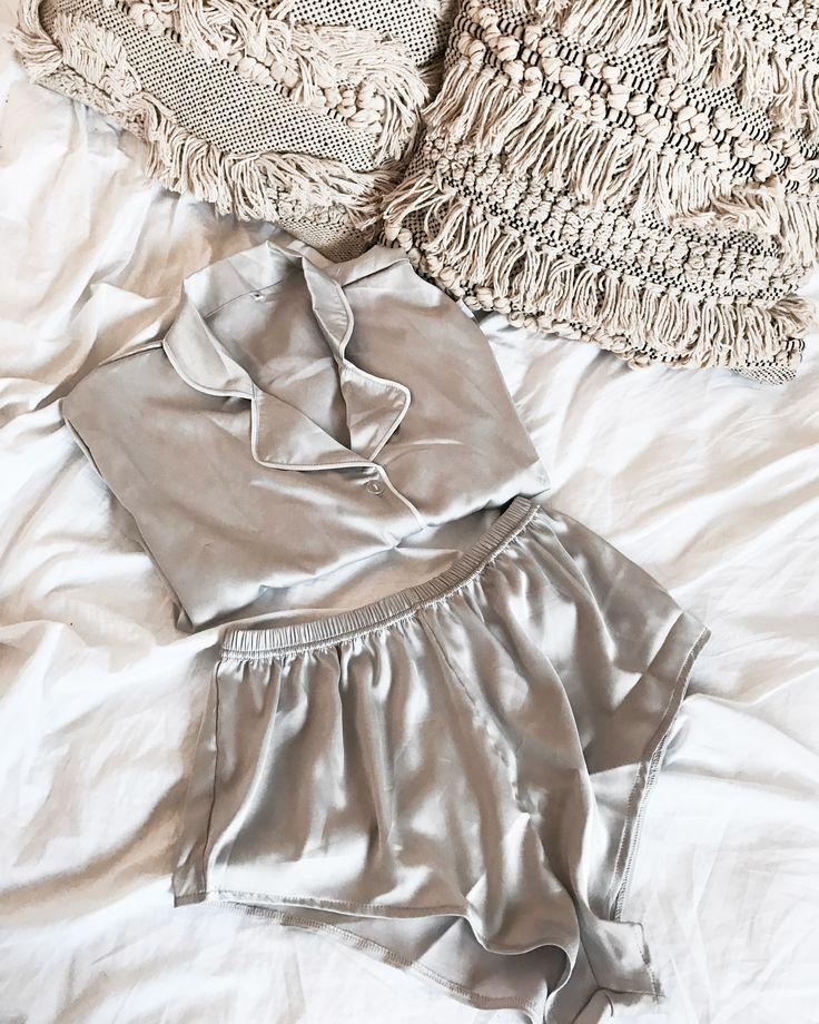 BED BASICS #sleep #sleepwear #pyjamas #luxe #grey #bed #dreamy