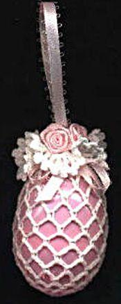 Pretty crochet Victorian Easter Egg Ornament, FREE PATTERN