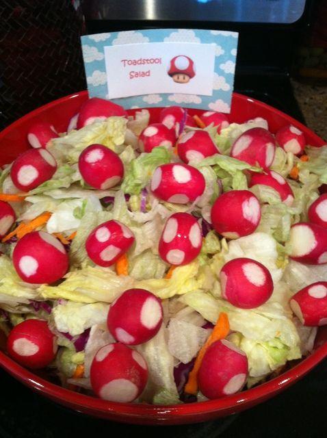 "Toadstool salad (Super Mario Party / Birthday ""Talan's 6th birthday""   Catch My Party)"