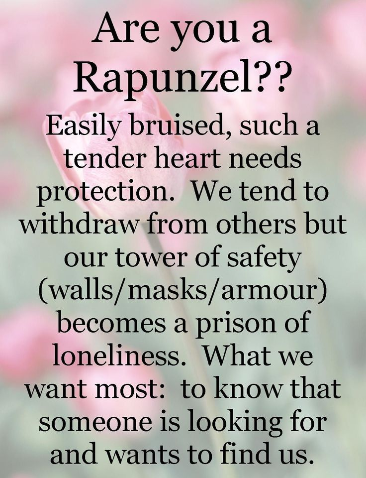"The Rapunzel Archetype - thanks to Catherine Behan - is also well described by the #4 on the Enneagram, and by Dr. Elaine Aron's ""Highly Sensitive Person (HSP)"""
