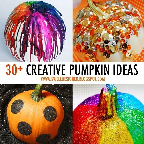 30 creative pumpkin decorating ideas.