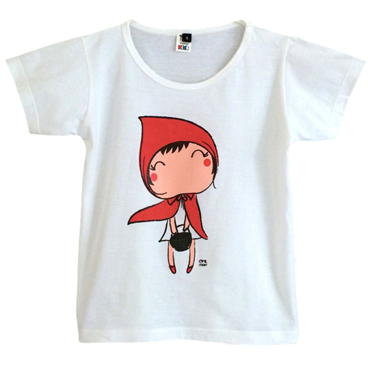 tee-shirt le petit chaperon rouge / little red riding hood tee-shirt  Oneman Brand  www.biancapeople.fr