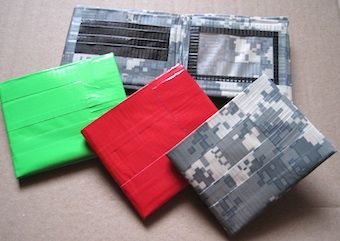 DIY duct tape wallet from Make-Homemade-Gifts