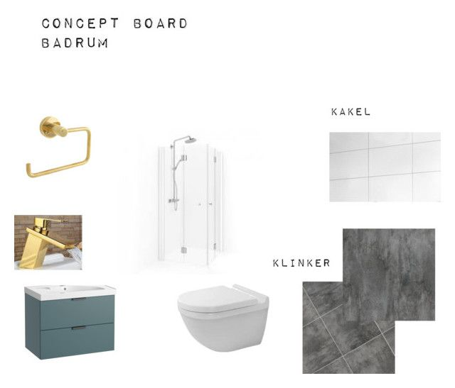 """""""concept board bathroom"""" by rebeccadyrting on Polyvore featuring interior, interiors, interior design, home, home decor, interior decorating and bathroom"""