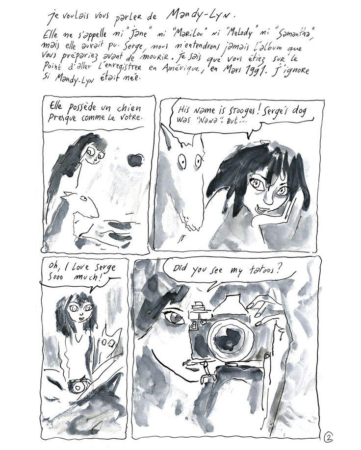 [Planche 2/9] En exclusivité pour Paris Match @joannsfar vient de réaliser une BD hommage pour les 25 ans de la mort de #SergeGainsbourg  Cest ainsi que débute lhistoire dune rencontre épistolaire inattendue entre #JoannSfar et une jeune artiste californienne fan absolue de Serge #Gainsbourg. De cette correspondance est née sous sa plume une bande dessinée.  Il y a huit jours raconte le dessinateur il y a une nana qui mécrit de #LosAngeles. Je ne lai jamais vue de ma vie elle sappelle…